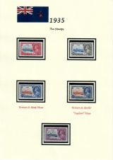 02 Fiji - 1935 Silver Jubilee of King George V & Queen Mary - The Stamps