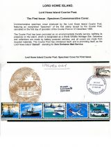 02 Lord Howe Island - Establishment of Courier Post - First Issue Specimen Commem Cover