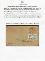 04 Fiji Bomber Fund - Metered mail tied with datestamp