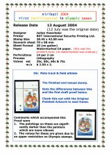 05 Kiribati 2004 - First Participation in Olympic Games, 25c stamp details