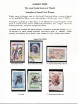 06 Hawai'i Post Privately Owned Local Service and Stamps - Examples of Post Stamps