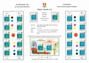 06 Kiribati 2018 Lest we Forget & In Remembrance - RStamps amd minature sheet