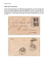 06 Tonga - Cover 1892 to Germany