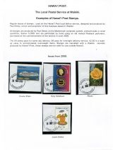 07 Hawai'i Post Privately Owned Local Service and Stamps - Examples of Post Stamps