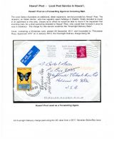 08 Hawai'i Post Privately Owned Local Service and Stamps - As Forwarding Agent