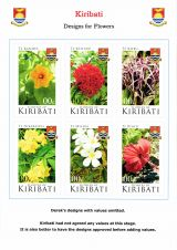 08 Kiribati 2017 Flowers - Designs with valuse omitted
