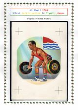 10 Kiribati 2004 - First Participation in Olympic Games, 60c original finished artwork
