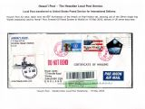 12 Hawai'i Post Privately Owned Local Service and Stamps - Local Post transferred to US Post for Internatioal Delivery