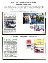 14 Hawai'i Post Privately Owned Local Service and Stamps - Anniv FDCs