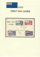 17 Fiji - 1935 Silver Jubilee of King George V & Queen Mary - FDC