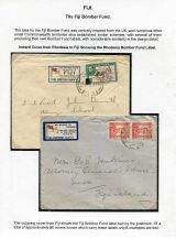 17 Fiji Bomber Fund - Inward cover to Fiji with Rhodesian Bomber Fund label