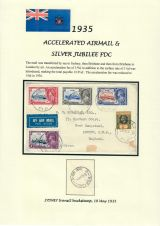 19 Fiji - 1935 Silver Jubilee of King George V & Queen Mary - Accelerated Airmail & FDC