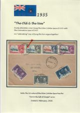 24 Fiji - 1935 Silver Jubilee of King George V & Queen Mary - The Old & the New