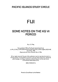Fiji notes on KG6 period