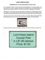 01 Lord Howe Island - Establishment of Courier Post - Intro