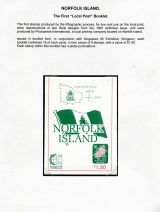 01 Norfolk Island - First Local Post booklet