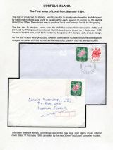 02 Norfolk Island - Fisrt issue of Local Post stamps 1995