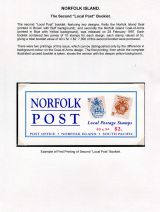 03 Norfolk Island - Secoind Local Post booklet