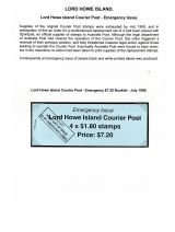 04 Lord Howe Island - Establishment of Courier Post - Emergency Issue