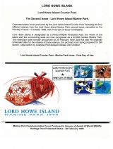 08 Lord Howe Island - Establishment of Courier Post - Second Issue marine Park