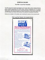 10 Norfolk Island - Fifth Local Post booklet