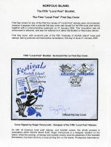 15 Norfolk Island - Fifth Local Post booklet stamps FDC
