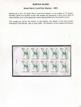 19 Norfolk Island - Green Parrot Local Post booklet stamps