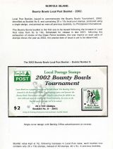 21 Norfolk Island - Bounty Bowls Local Post booklet 2002