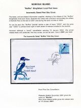 27 Norfolk Island - Nuffka (Kingfisher) Local Post issues incorrectly dated FDC