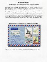 29 Norfolk Island - Local Post stamps on conventional mail