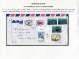 30 Norfolk Island - Local Post stamps on conventional mail